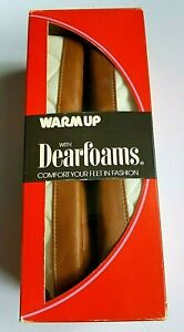 Vintage Dearfoams Slippers Booties Warm Up 8-9 Snow Cap Quilted Lined Boho NIB