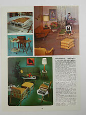 1960's Catalog Paper Ad Mid-Century Den Game room Furniture Pool Table