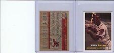 1957 TOPPS #20 HANK AARON MINI REPRINT CARD NICE MINT (A-59)