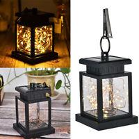 Solar Hanging LED Copper Wire String Light Lantern Waterproof Outdoor Garden VHS