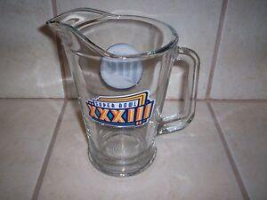 DENVER BRONCOS SUPER BOWL XXXIII GLASS