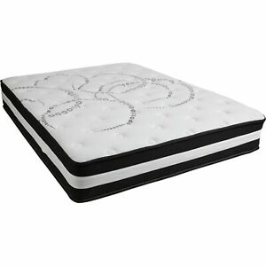 Capri Comfortable Sleep 12 Inch Foam and Pocket Spring Mattress, Queen Mattre...