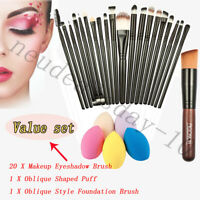 21Pcs Professional Make up Brushes Set Cosmetic Tool Kabuki Kit+Sponge Puff*set