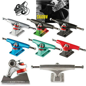 Gullwing Skateboard Trucks Shadow (Pair) - Choose Color and Size