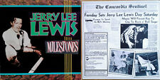 JERRY LEE LEWIS - MILESTONES - RHINO - (2) LP SET WITH 8 PAGE BOOKLET - 1989