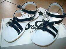 (Z90) Dolce & Gabbana Girls Schuhe Riemchen Sandalen mit Logo Gummi Sohle gr.29