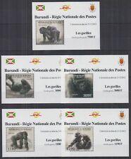 O443. Burundi - Mnh - Nature - Animals - Gorillas - Deluxe