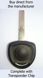 VAUXHALL Vectra 1995 - 2002 COMPATIBLE SPARE KEY with ID40 Transponder Chip.