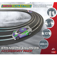 NEW Micro Scalextric Track Extension 6 Straight/4 Curve 1/64 FREE US SHIP
