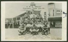 """Scott Class Destroyer HMS """"Bruce"""" Football Team. 1932-33 - Photographic Postcard"""