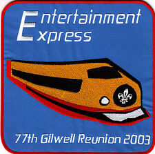 Boy Scout Badge 77th GILWELL REUNION 2003 Entertainment Express BackPatch
