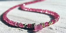 zarte pink saphir kette, 45 cm, 925 silber