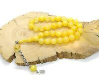 Fragranced  Yellow Tesbih Tasbih Misbaha Prayer Islam Prayer Bead Rosary
