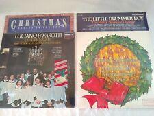 4 Christmas Vinyl Records Holiday Lps Xmas Albums Pavarotti Hallmark Mormon TC