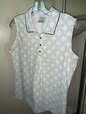 New listing Women's Nike Golf Dri-Fit sleeveless collard shirt, Med pre-owned
