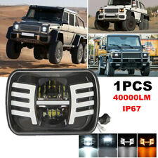 "1PCS Square 7x6"" 5x7"" LED Headlight DRL Turn Signal Lamp Projector High/Low Beam"