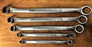 """Vintage Craftsman 3/8"""" - 1"""" Offset Neck - """"V"""" Series Box End Wrench Set"""