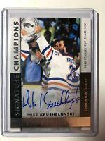 2014-15 Upper Deck Premier Signature Champions Mike Krushelnyski Auto Oilers /99