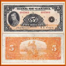 1935 $5 Prince of Wales - English Variety in Very Fine. Bank of Canada BC-5