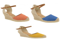 Ladies Ravel Etna Espadrilles Suede Leather Wedge Summer Shoes RRP £65