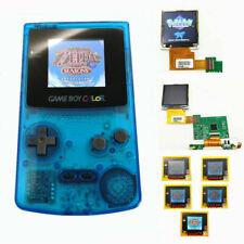 Nintendo Game Boy Color GBC System Backlight Backlit Brighter Mod Clear Blue