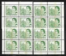 CANADA STAMPS #455pi BLOCK OF 4 X 4 (NH) FROM 1967-77