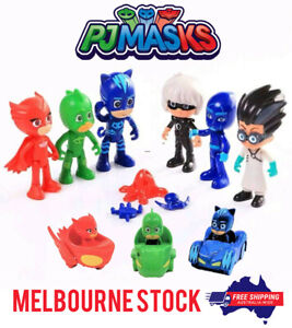 PJ Masks Toy 6 PACK Action Figurine Catboy Owelette Gekko Romeo Luna Night Ninja