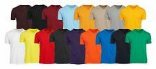 6 Pack Mens V Neck TShirt 100% Cotton Premium Short Sleeve Solid Assorted Colors