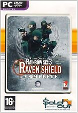 Tom Clancy's Rainbow Six 3 Raven Shield Complete PC Dvd Rom Computer Game 16+