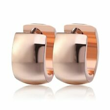 Women Men Fashion Small Silver Gold Stainless Steel Round Huggie Hoop Earrings