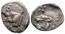 Koc Greek Coins. Mysia, Kyzikos, c. 450-400 BC. AR Hemiobol 8mm. 0,36g.
