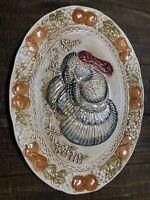 Rare Vintage Turkey Platter Server Fall Thanksgiving Holiday Caldor Inc Japan