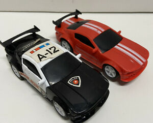 Vintage Artin Slot Car Racing track 360 with cars Police Car Red Car