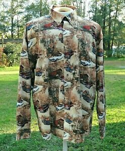 Men's XX Large Long Sleeve Classic 1960s Cars Shirt By North River Outfitters