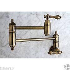 Traditional Restoration Kitchen Faucet Pot Filler In Vintage Brass, Antique