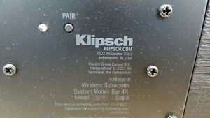 Klipsch Wireless Subwoofer (Model Sub 8) for Klipsch Bar 48