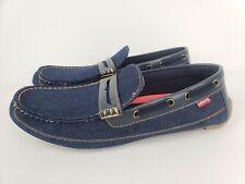 Levis Comfort Shoes Loafers Boat Shoes Mens Blue Denim Size 13