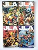JLA Justice League of America Deluxe Edition Vol 1 2 3 4 Morrison 1st Print HC