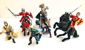 Papo Knights In Armour Figures 3 horses, king,3 knights