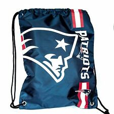 New England Patriots Drawstring Bag NFL Football Officially Licensed Gym Tote