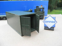 CONRAD 1/50 CONTAINER MILITAIRE  20 PIEDS PORTES OUVRANTES ARTICLE NEUF