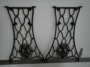 Antique SINGER Treadle Sewing Machine Base Legs Cast Iron Steam Punk  #19