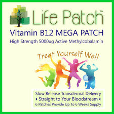 La vita Patch Vitamina b12 Mega Patch * b-12 5000mcg Metilcobalamina Patch * 6 *