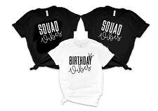 Birthday Vibes T-shirt - Birthday Squad - Birthday Party Holiday - Uk seller
