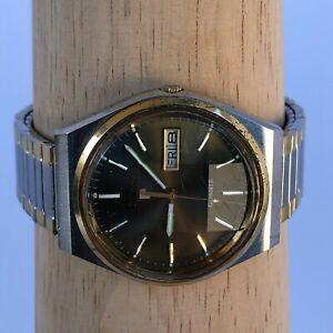 Vintage Pulsar by Seiko Y563-8549 1981 Prisma Crystal quartz watch two tone Date