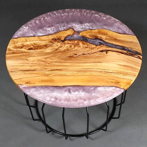 Epoxy Table, dining, sofa, center table top Live Edge Wood Table With Stand