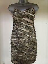 Ladies River Island Strapless Leopard Print Dress Size 8