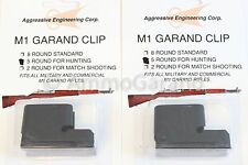 2-Pack 5rd Clips for M1 Garand Hunting NEW 5 Round 5 Rd Clip