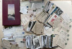 großes Konvolut alte Ansichtskarten Postkarten Ganzsachen Briefe Album ca. 600St