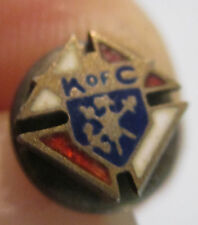 """MARKED STERLING---KNIGHTS OF COLUMBUS ENAMELED 1/4""""  LAPEL / TIE TACK SCREW BACK"""